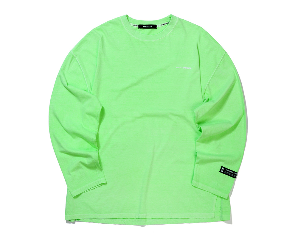 FANACULT STUDIO. LONG SLEEVE-NEO GREEN