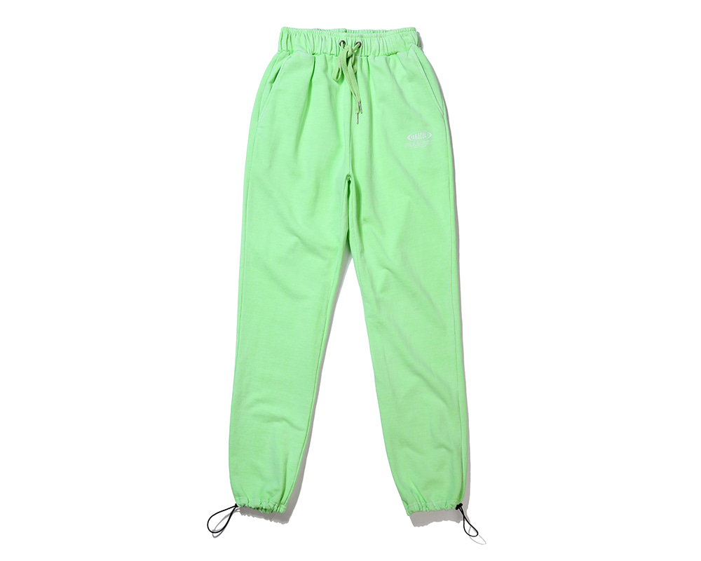 FANACULT BIG NAME SET_UP PANTS-NEO GREEN