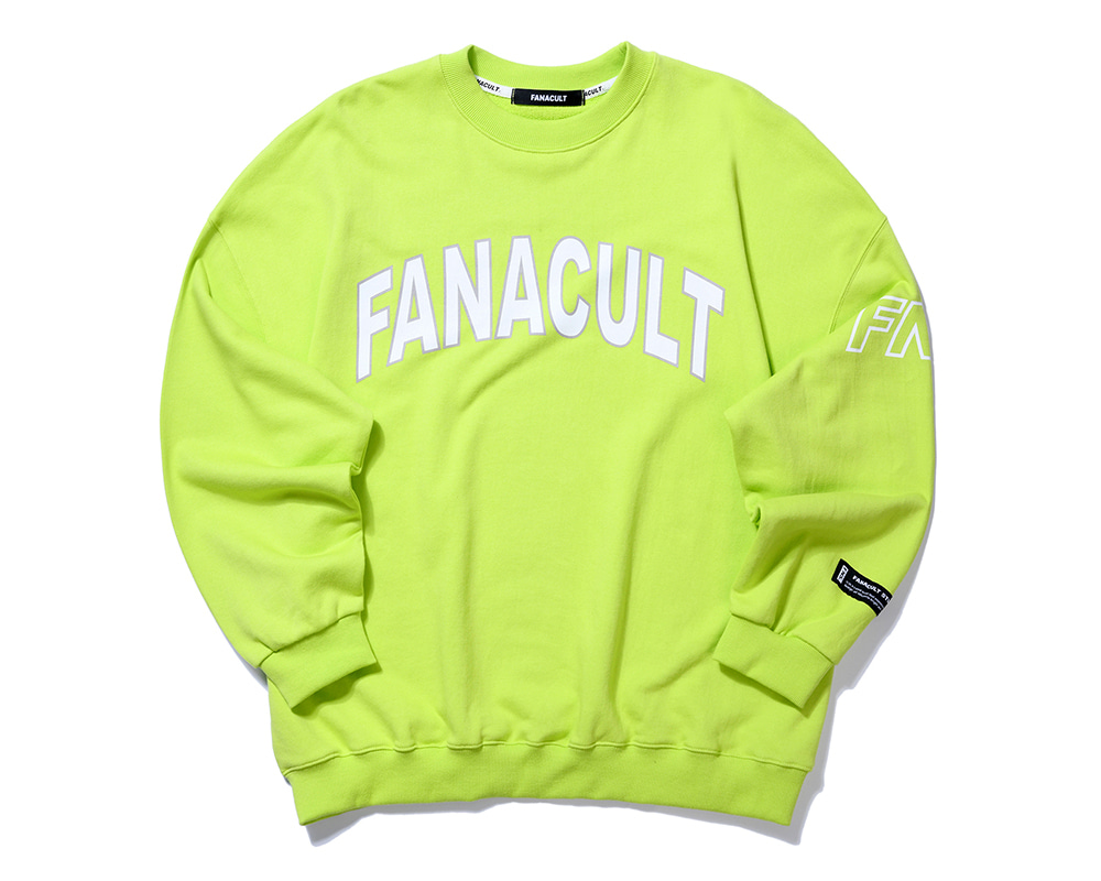 FNS SIDE ARM SWEATSHIRT-NEO YELLOW