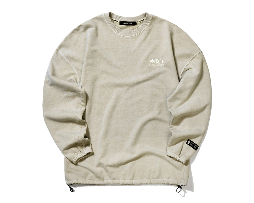 FANACULT ONE LOGO SLEEVE-OATMEAL