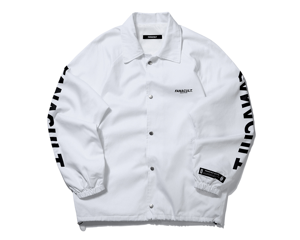 FANACULT SET-UP LOGO JACKET-WHITE
