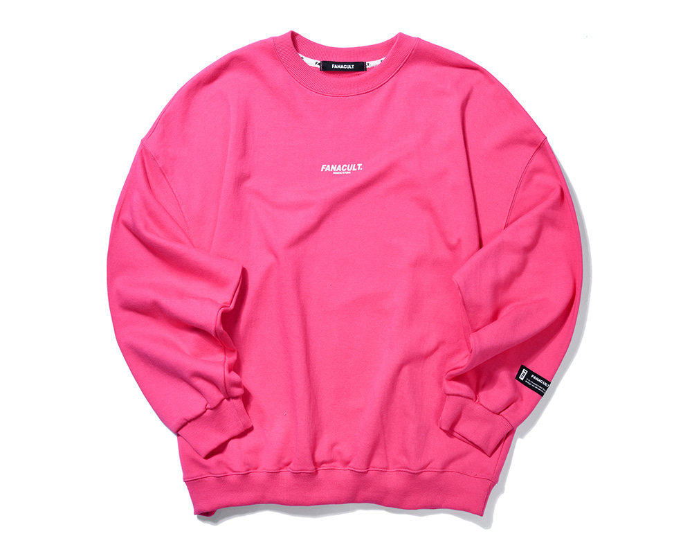 FNS BIG LOGO SWEAT SHIRT-CORAL PINK