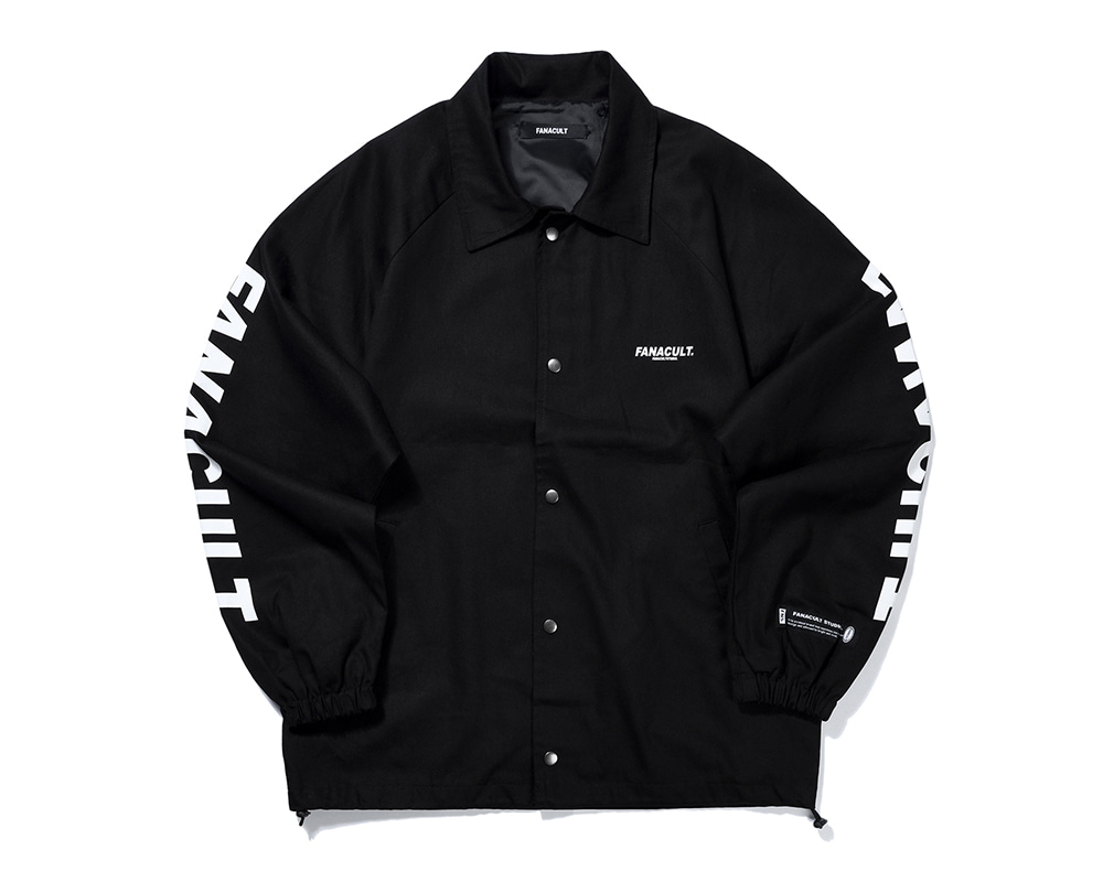 FANACULT SET-UP LOGO JACKET-BLACK