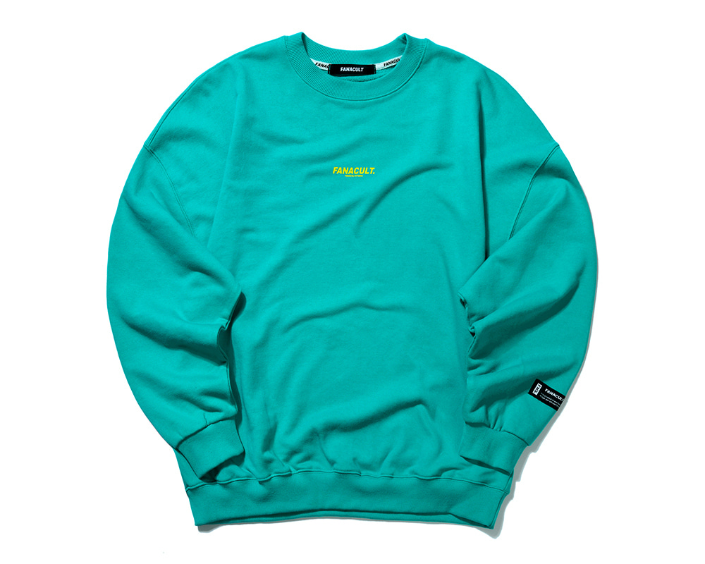 FNS BIG LOGO SWEAT SHIRT-EMERALD GREEN