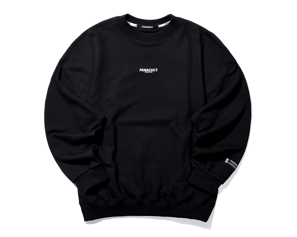 FNS BIG LOGO SWEAT SHIRT-BLACK