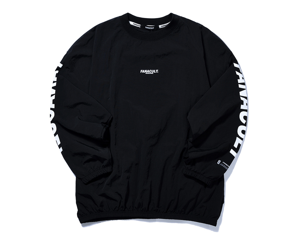 FANACULT EARTH LOGO 3M SLEEVE-BLACK