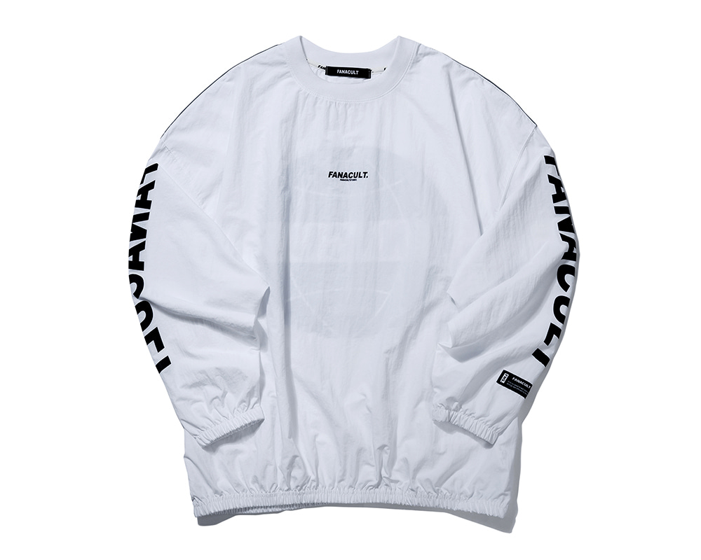 FANACULT EARTH LOGO 3M SLEEVE-WHITE