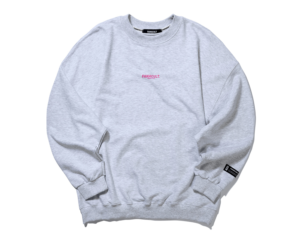 FNS BIG LOGO SWEAT SHIRT-MELANGE GRAY