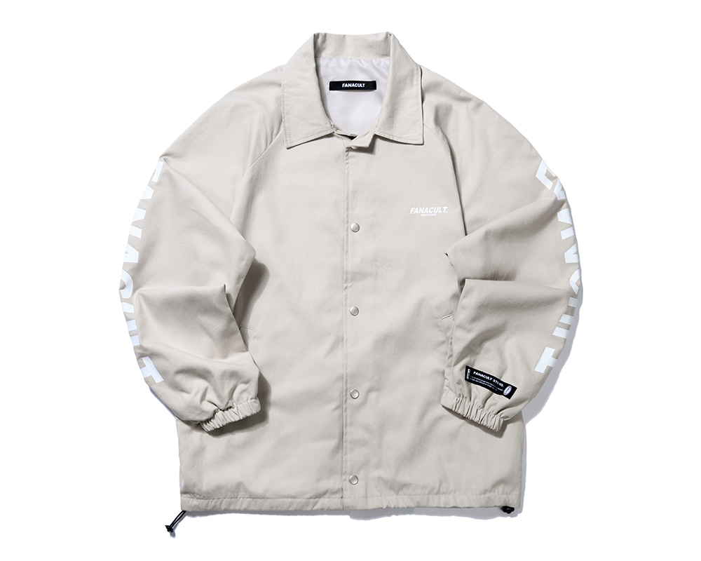 FANACULT SET-UP LOGO JACKET-BEIGE