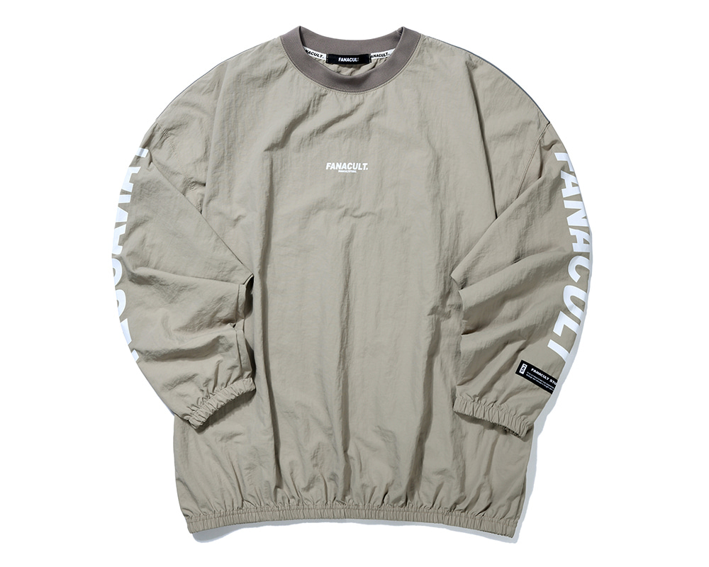 FANACULT EARTH LOGO 3M SLEEVE-BEIGE