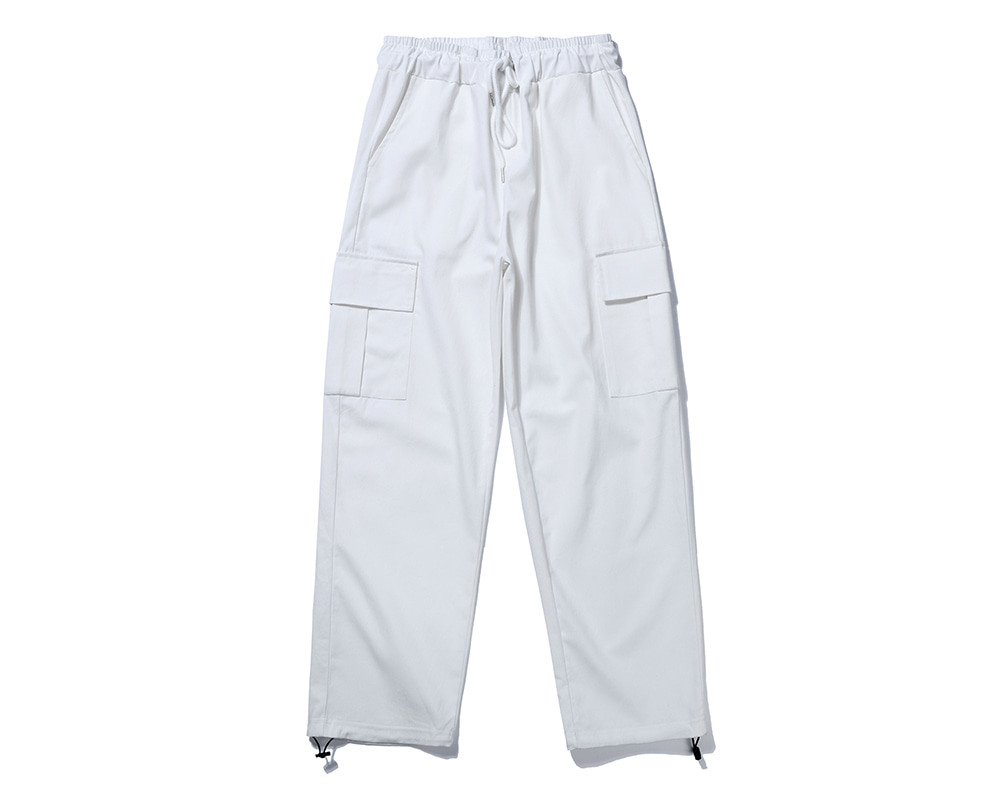FANACULT STRING CARGO PANTS-WHITE