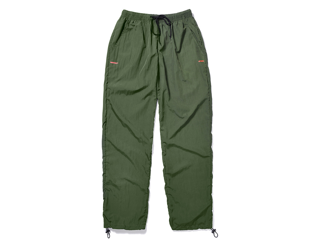 FANACULT SET_UP LOGO PANTS-KHAKI