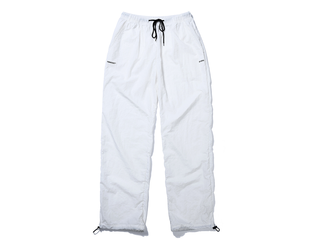 FANACULT SET_UP LOGO PANTS-WHITE